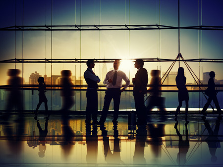 ビジネス人々 会議議論通信の概念