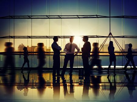 Obchodní cestující Meeting Diskuse komunikační koncept