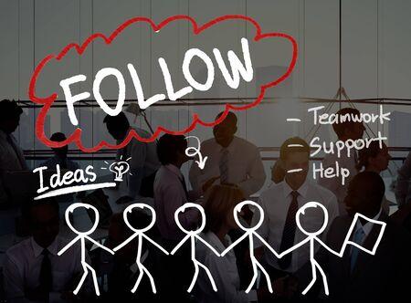 social network: Follow Track Subscribe Social Media Concept