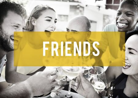 compa�erismo: Amigos Amistad Compa�erismo Compa�erismo Uni�n Concept
