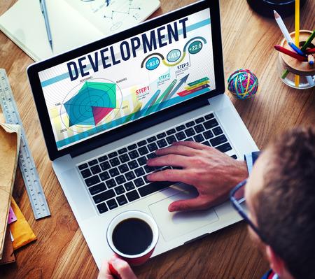 personal development: Development Goal Growth Improvement Solution Concept Stock Photo