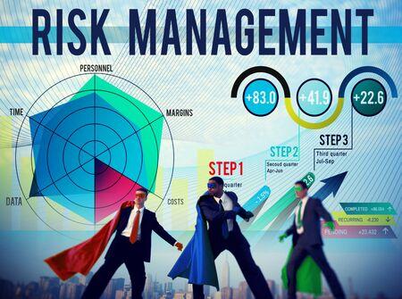 risk management: Risk Management Control Security Safety Concept