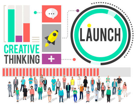 begin: Launch New Business Inauguration Begin Start Concept