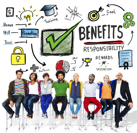 earning: Benefits Gain Profit Earning Income People Friendship Concept Stock Photo