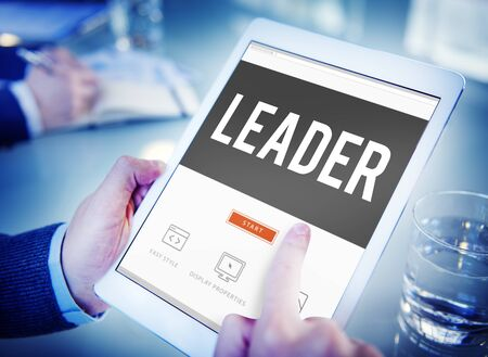 business words: Leader Leadership Management Coaching Concept