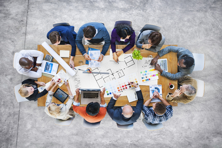 Business People Design Team Brainstorming Meeting Concept Stock Photo