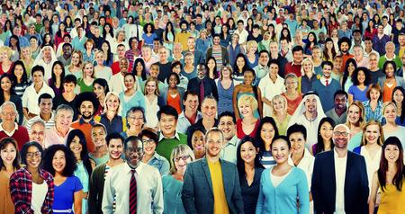 Mensen Diversiteit etniciteit Menigte Society Group Stockfoto