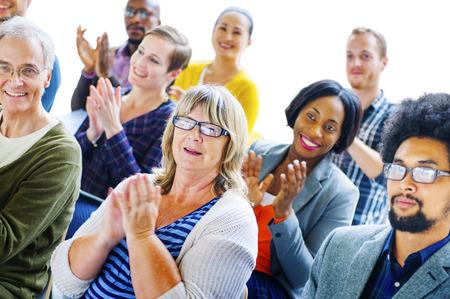 Ethnicity People Presentation Seminar Support Concept Stockfoto