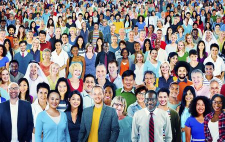 Grote Groep Diverse Multiethnic Vrolijke mensen Concept Stockfoto