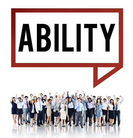skilled: Ability Skilled Strategy Talent Vision Concept Stock Photo