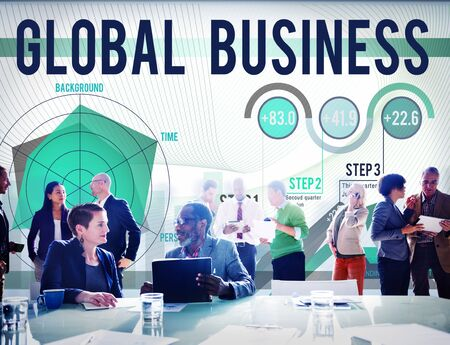company growth: Global Business Strategy Startup Growth Concept