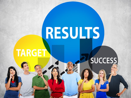 target thinking: Results Target Success Planning Strategy Progress Concept