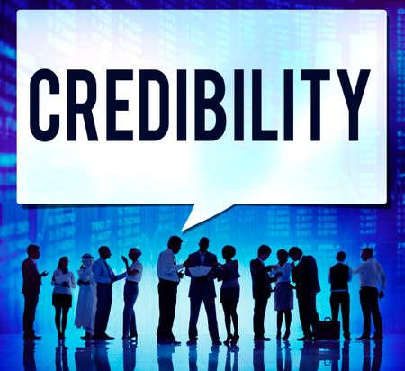 inspiration determination: Credibility Partnership Determination Inspiration Concept