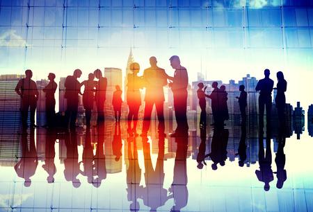 Business People Meeting Discussion Communication Concept Banco de Imagens