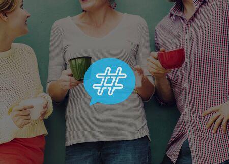 blog icon: Hashtag Icon Social Media Blog Post Concept