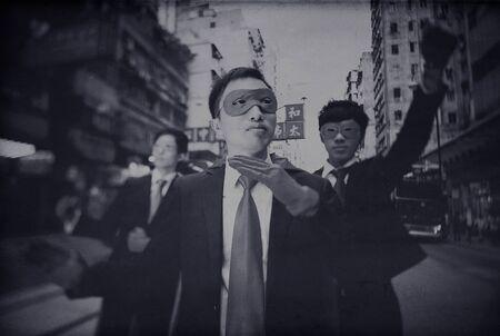 powerful creativity: Asian Business Superheros Aspiration Courage Concept