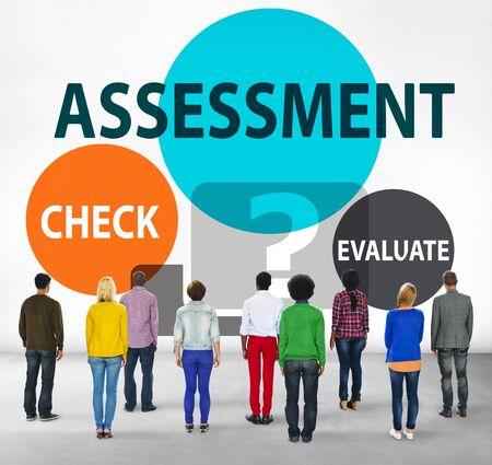 facing backwards: Assessment Calculation Estimate Evaluate Measurement Concept