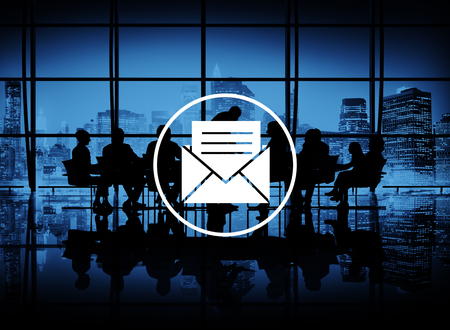 office building: Email Message Icon Communication Letter Concept