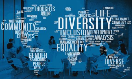 Diverse Equality Geschlecht Innovationsmanagement-Konzept Standard-Bild
