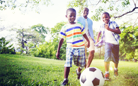 african: African Family Happiness Holiday Vacation Activity Concept