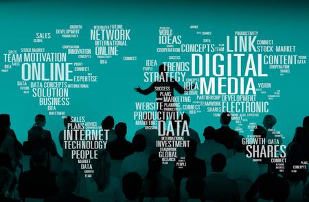 디지털 미디어, 인터넷 투자 링크 계획 개념 공유