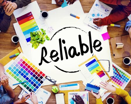 reliable: Reliable Honesty Loyalty Integrity Respect Concept Stock Photo