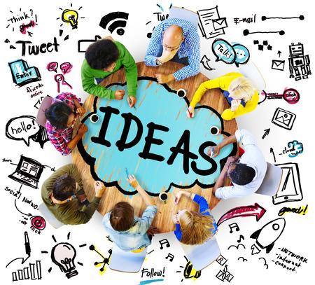 아이디어 창조적 독창성 Imgination 혁신 생각 개념