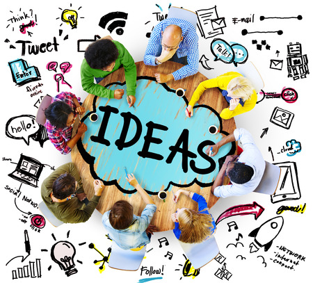 Idea Creative Creativity Imgination Innovate Thinking Concept Banco de Imagens