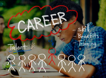 adolescent african american: Careers Employment Job Recruitment Occupation Concept