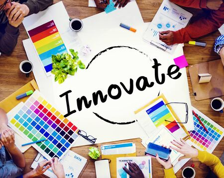 invention: Innovate Innovation Ideas Inspiration Invention Concept Stock Photo