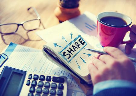 üzlet: Üzletember egyetlen szó Share Concept
