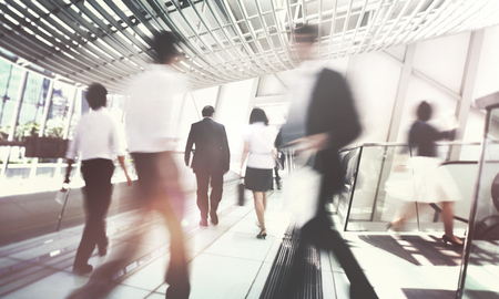 Hong Kong Business People Commuting Concept Imagens