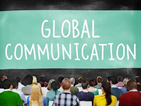 personas comunicandose: Comunicación Global Globalización Conexión Comunicar Concepto