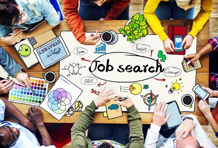 job application: Job Search Searching Career Application Concept Stock Photo