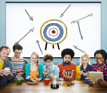 Goal Target Success Aspiration Aim Inspiration Concept Banco de Imagens - 46820567