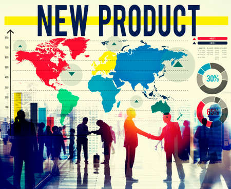stock market launch: New Product Advertising Branding Commerce Concept