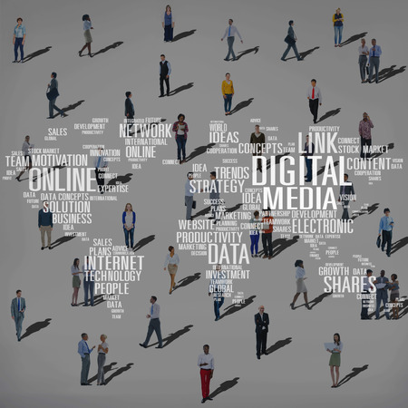 business lifestyle: Digital Media Shares Internet Investment Link Plans Concept