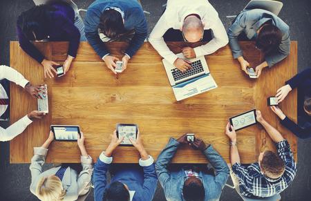 diversidad: Grupo de hombres de negocios Reunión Corporativa Concepto Foto de archivo
