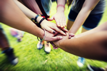 join hands: Team Teamwork Relation Together Unity Friendship Concept