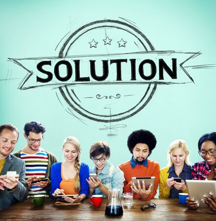 problem solution: Solution Problem Solving Organization Management Concept Stock Photo
