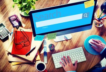 oficina desordenada: Buscar Seo Online Internet Navegación Concepto Web