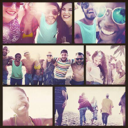 amicizia: Amici Amicizia Tempo libero Vacanze Insieme Fun Concetto Archivio Fotografico