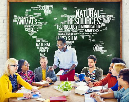 recursos naturales: Recursos Naturales, Conservación del ambiente Sostenibilidad Concept Foto de archivo