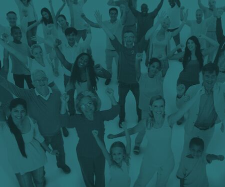 mixed age: Diversity Community People Friendship Celebration Concept
