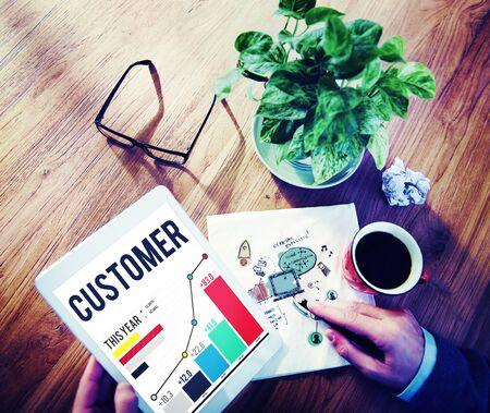 satisfaction client: Customer Satisfaction Service Efficiency Loyalty Concept Banque d'images