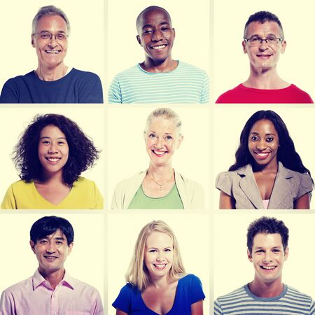 diversity people: Protrait of Group Diversity People Community Happiness Concept Stock Photo