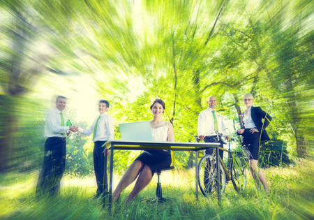 Green business team Environmental Concept Stock Photo