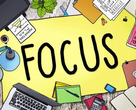 to determine: Focus Determine Centre Concentrate Point Concept
