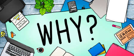 reason: Why Question Reason Curious Confuse Concept Stock Photo