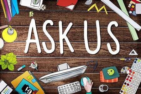 ask: Ask Us Help Support Response Information Concept